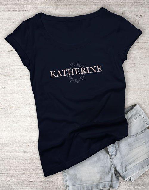 clothing Personalised Starburst Graphic Ladies T Shirt