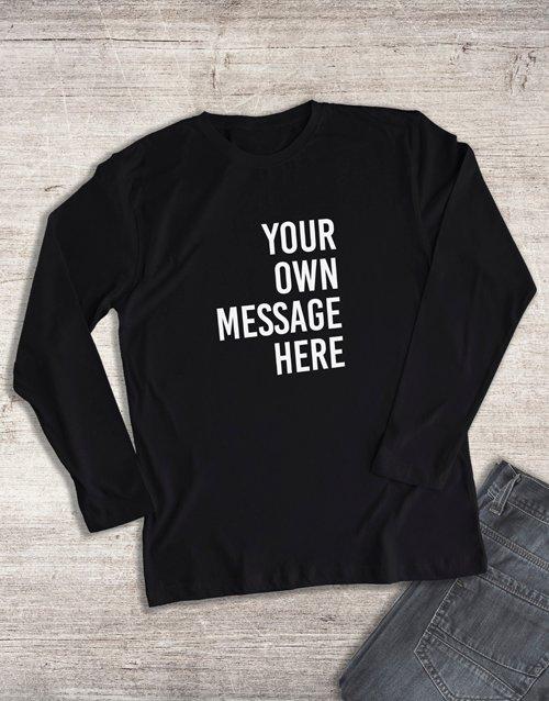 clothing Personalised Black Ladies Long Sleeve Shirt