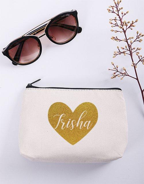 personalised Personalised Heart Cosmetic Bag