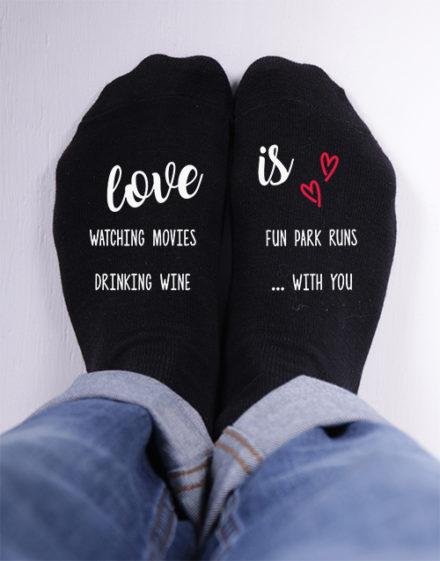 apparel Personalised Love Is Socks