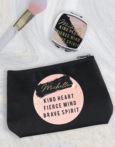 personalised Personalised Kind Heart Cosmetic Bag