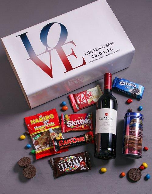 Personalised Love Gourmet Giftbox