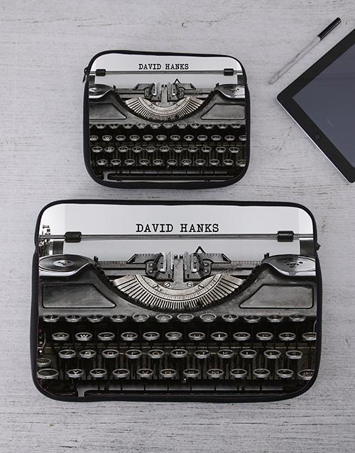 apparel Personalised Typewriter Tablet or Laptop Sleeve
