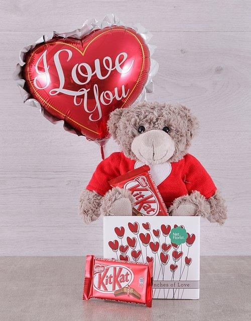teddy-bears Love Teddy and Kit Kat Box
