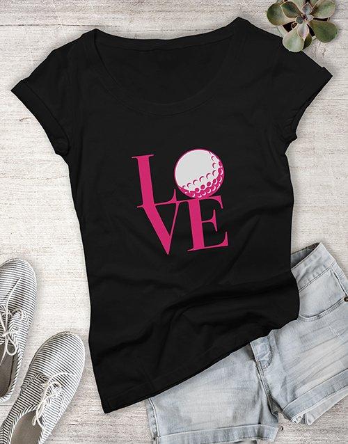 clothing Love Golf Ladies Shirt