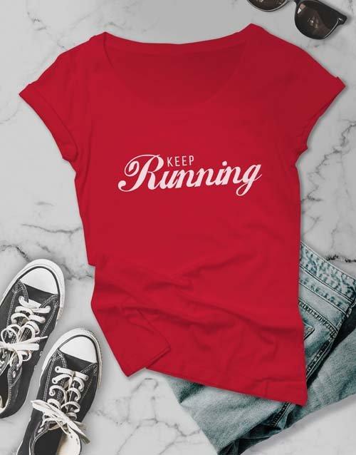 clothing Keep Running Ladies T Shirt