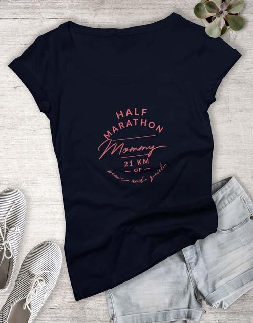 clothing Marathon Mom Ladies T Shirt