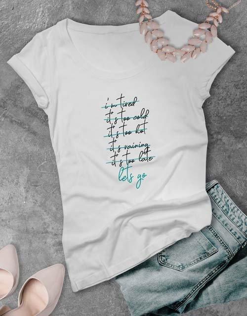 clothing Lets Go Ladies T Shirt