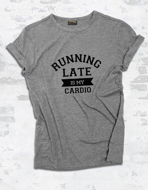 clothing Running Late Ladies T Shirt