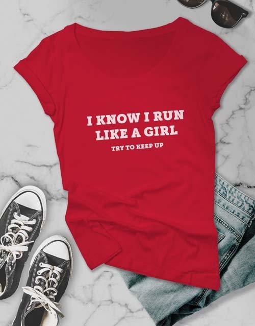 clothing Run Like A Girl Ladies T Shirt