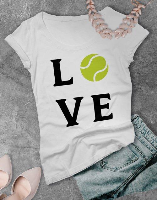 clothing Love Tennis Ladies T Shirt
