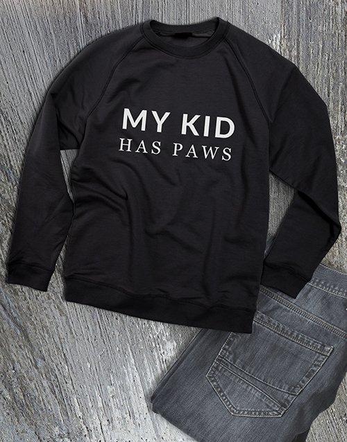 clothing My Kid Has Paws Ladies Sweatshirt