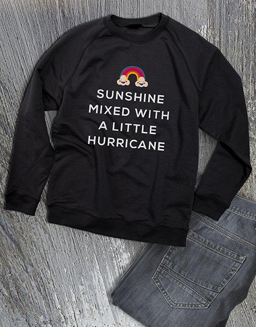 clothing Sunshine With A Hurricane Ladies Sweatshirt
