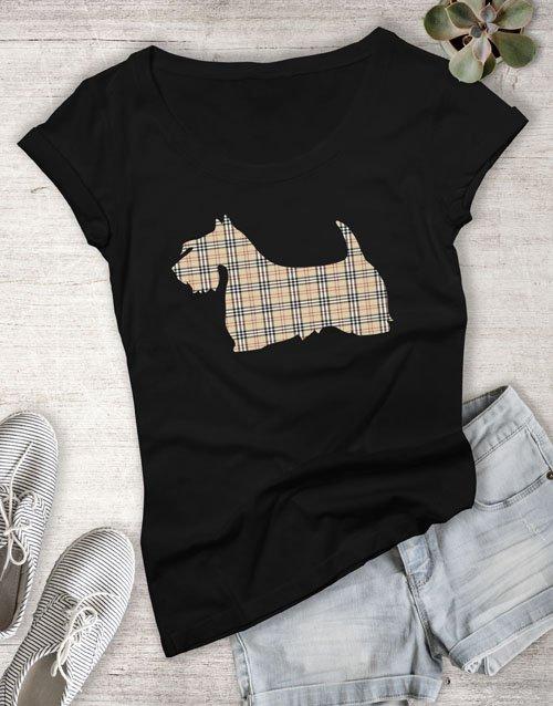 clothing Scottish Terrier Print Ladies T Shirt