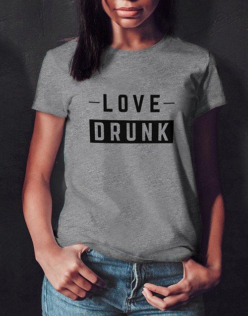 clothing Love Drunk Ladies Grey Tshirt