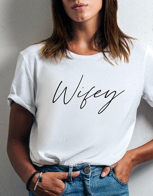 clothing Wifey Ladies White Tshirt