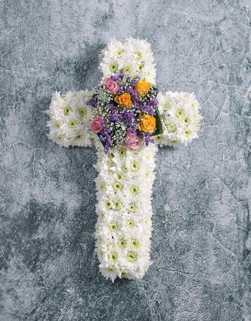 flowers Floral Sympathy Cross