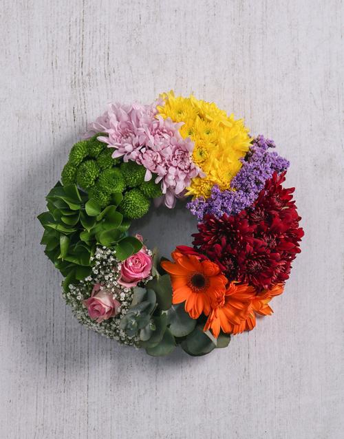 flowers Mix Flowers Sympathy Wreath