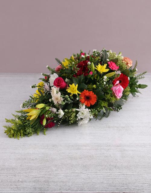 flowers Seasonal Funeral Coffin Display