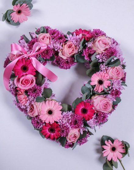 flowers Gerbera and Spray Funeral Heart