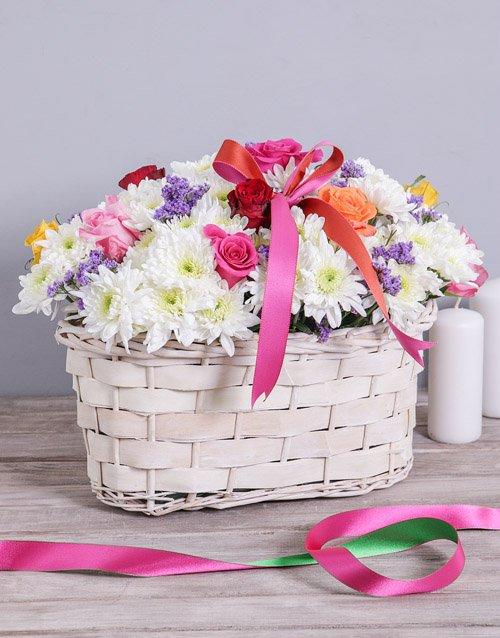 flowers Mixed Sympathy Basket