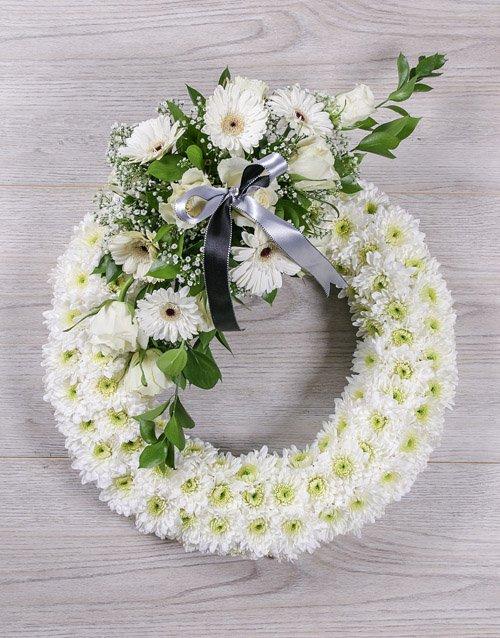 flowers White Sympathy Wreath