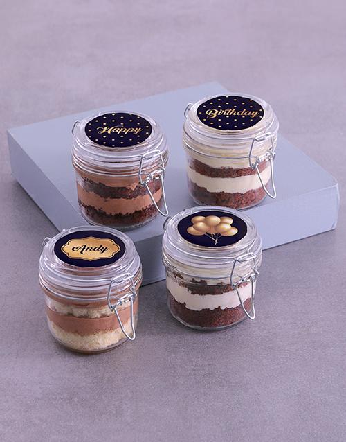 birthday Personalised Birthday Lindt Cake Jars