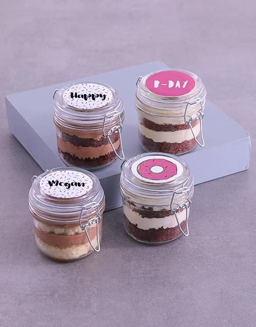 birthday Personalised Pretty Pink Cupcake Jars