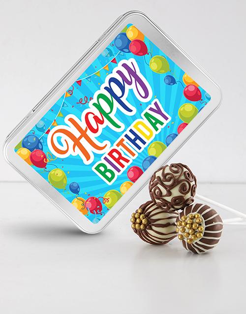 birthday Birthday Chocolate Cake Pops