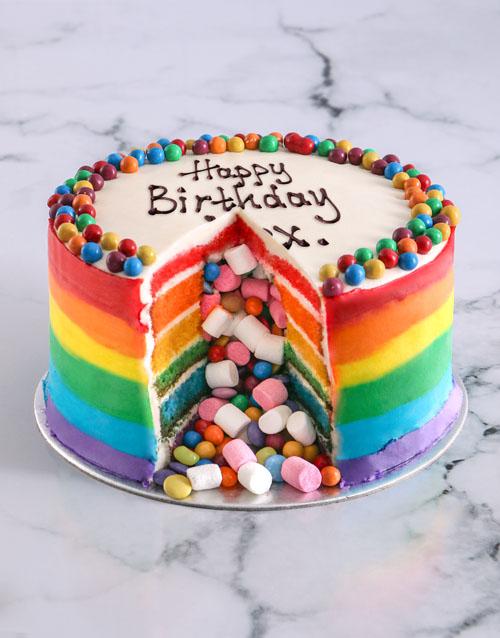 birthday Rainbow Pinata Cake