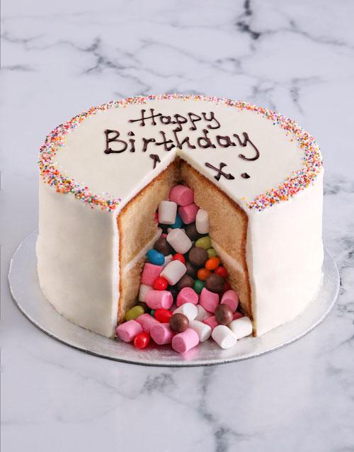 birthday Vanilla Pinata Cake