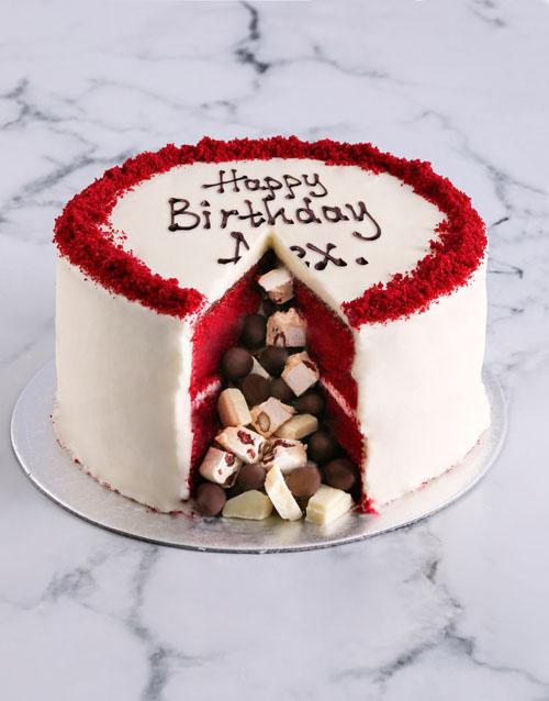 birthday Red Velvet Pinata Cake