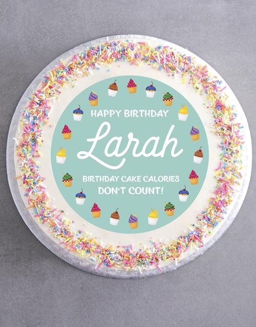 birthday Personalised Sweet Birthday Cake