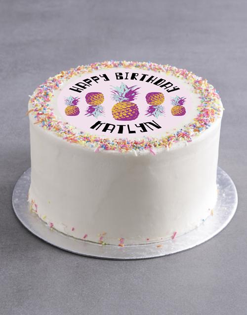 birthday Personalised Pine Theme Birthday Cake