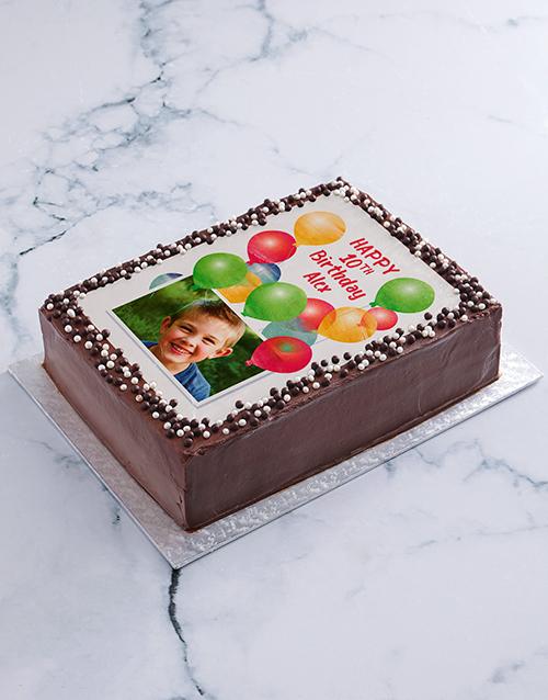 birthday Birthday Balloons Photo Cake