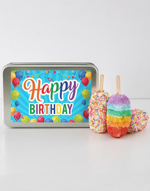 birthday Birthday Rainbow Cakes On A Stick