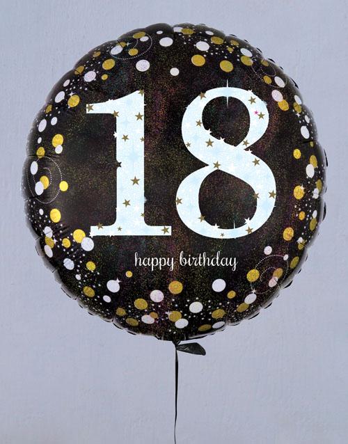 birthday Ecstatic Eighteenth Birthday Balloon