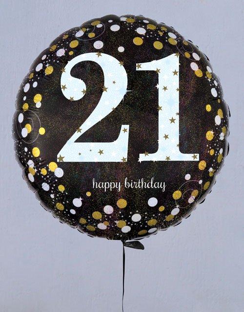 birthday Terrific Twenty First Birthday Balloon