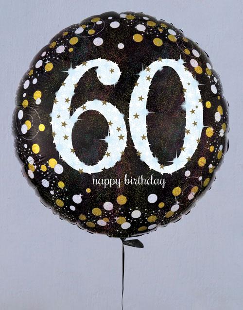 birthday Sensational Sixtieth Birthday Balloon