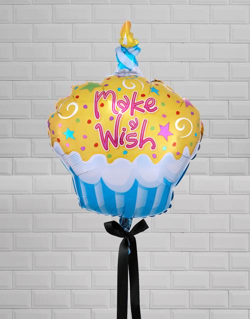 birthday Make A Wish Cupcake Balloon Gift