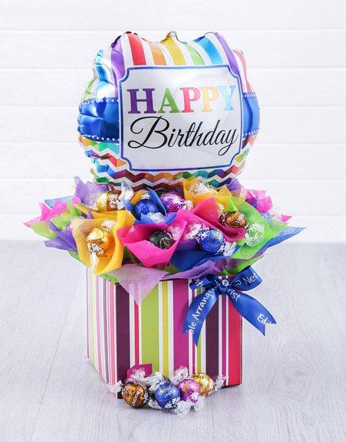 birthday Birthday Balloon Lindt Edible Arrangement