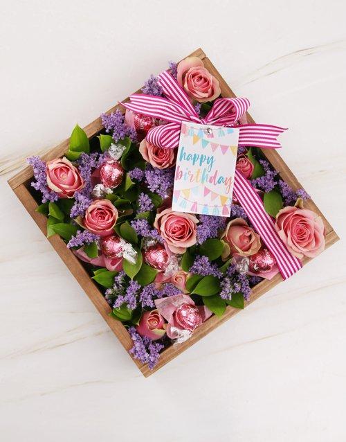 birthday Pink Happy Birthday Rose Arrangement