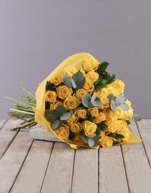 birthday Yellow Roses Bouquet