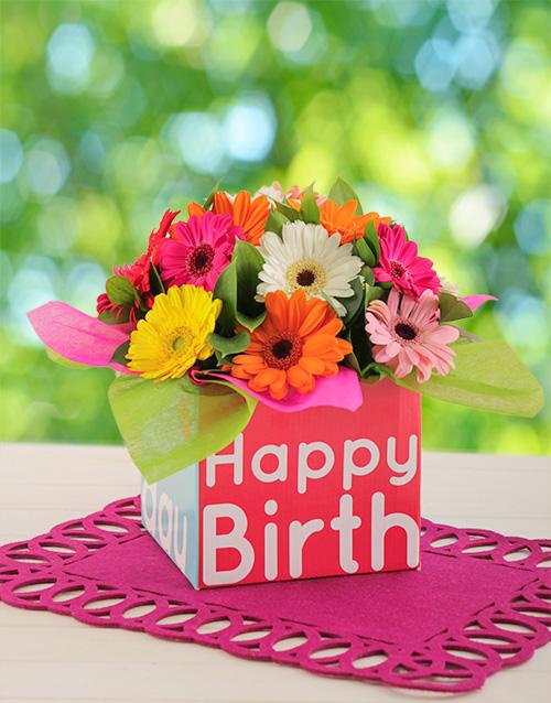 birthday Happy Birthday Box of Mini Gerberas