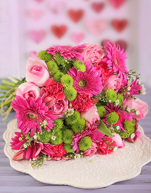 birthday Pink Flower Power Bouquet