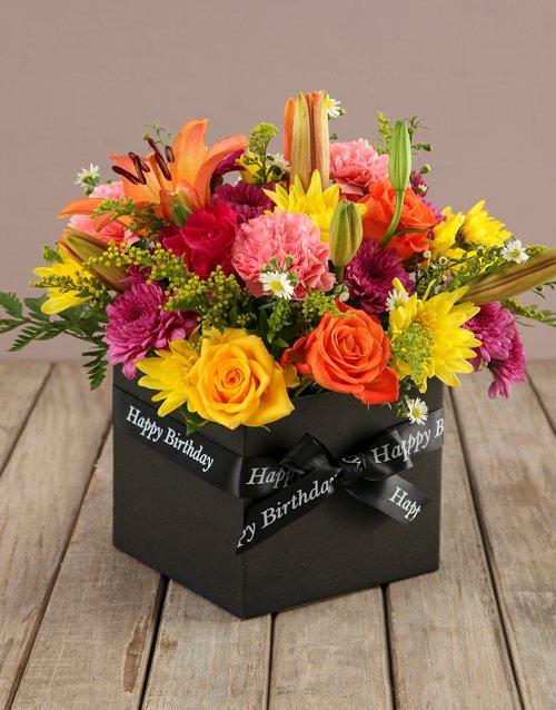 birthday Bright And Brilliant Birthday Box Of Flowers