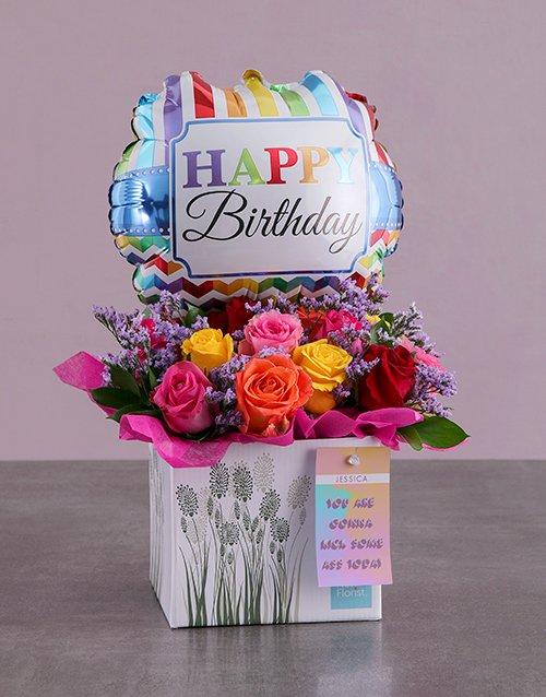 birthday Personalised Birthday Arrangement In A Box