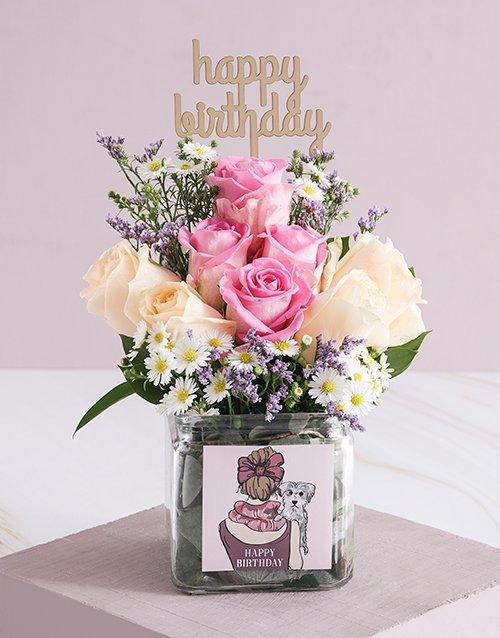birthday Regal Birthday Roses in a Vase