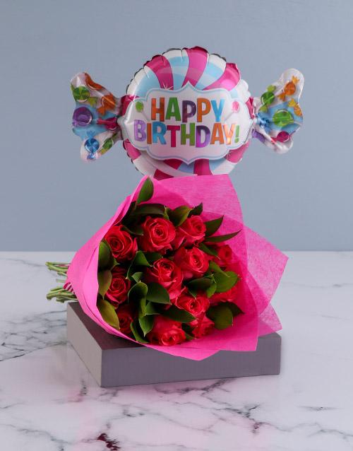 birthday Happy Birthday Cerise Roses