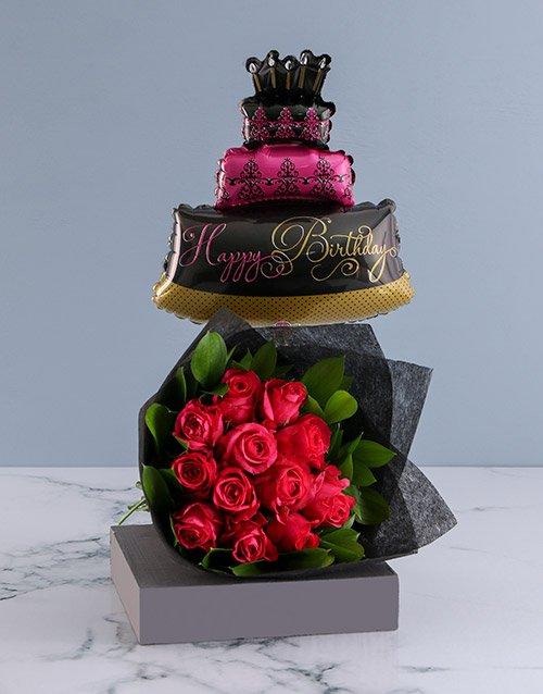 birthday Cerise Happy Birthday Flower Bouquet